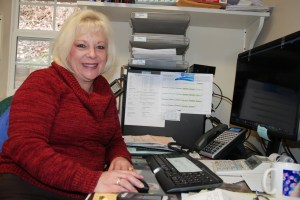Office Manager Deborah Kirksey has worked for Blue Ridge Realty for about 25 years. Photo by Ken Ketchie
