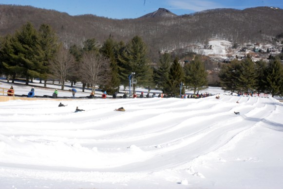 Snow tubing at Sugar Mountain is a blast! Photo by Ken Ketchie
