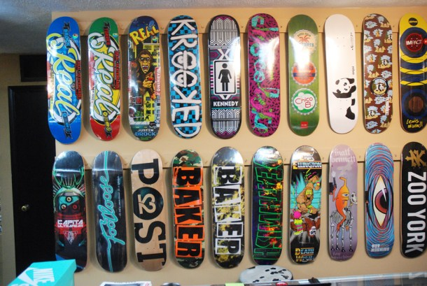 a wide selection of decks