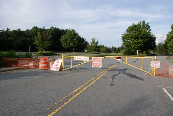 The entrance to the old Watauga High School. Photos by Ken Ketchie