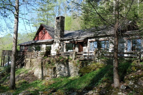 A picturesque setting, the building that houses the Gamekeeper Restaurant is the old headmaster's cabin of Yonahlossee Girl's Camp.