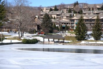 The frozen lake at Chetola Resort is cool enough and ready to go for this weekend's Polar Plunge and other WinterFest events. Photo by Ken Ketchie.