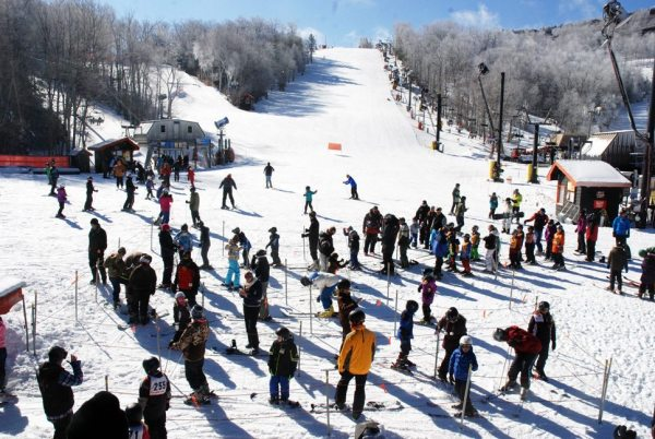 Appalachian Ski Mtn. was packed on Friday afternoon. The slopes should be even busier heading into the holiday weekend. Photo by Ken Ketchie