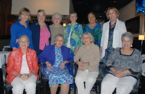 Front row, left to right: Jeannie Morris, Frances Arnold, Bea Davidoski, Barbie Quatrano Back row, left to right: Deborah Plotts, Lenore Highet, Baben Patricelli, Marie Schaedler, Janice Edwards, Barbara Bernstein