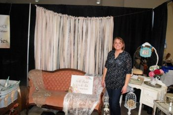 Kelly Williams is pictured representing A Bushel and a Peck at last year's High South Weddings Expo in Boone. Photo by Ken Ketchie.