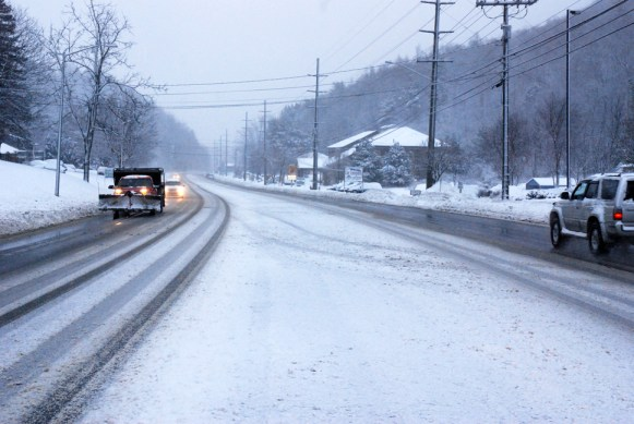 The secondary roads are still covered, while the road crews work to maintain the main roads. Photos by Ken Ketchie