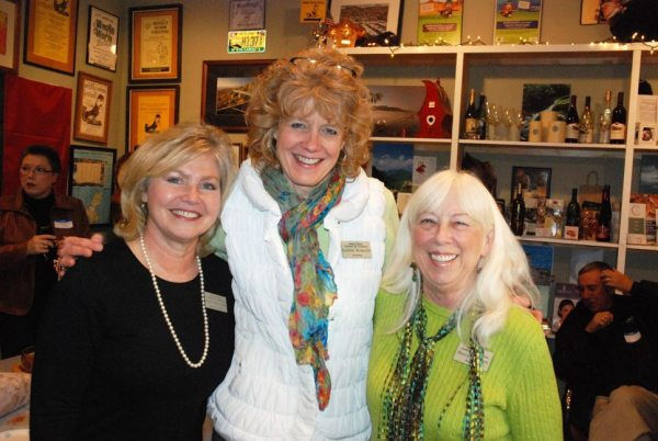 From left to right: Chamber Executive Director Melynda Pepple, Secretary Babette McAuliffe and Board President Nancy Morrison