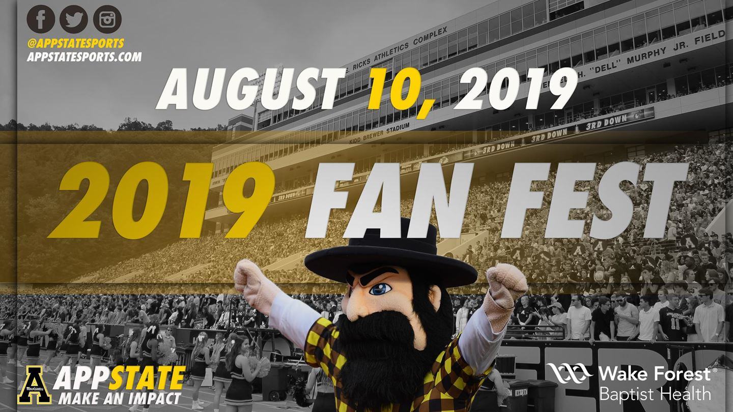 Appalachian State's Fan Fest on Saturday to Run from 3-6 P M  | High