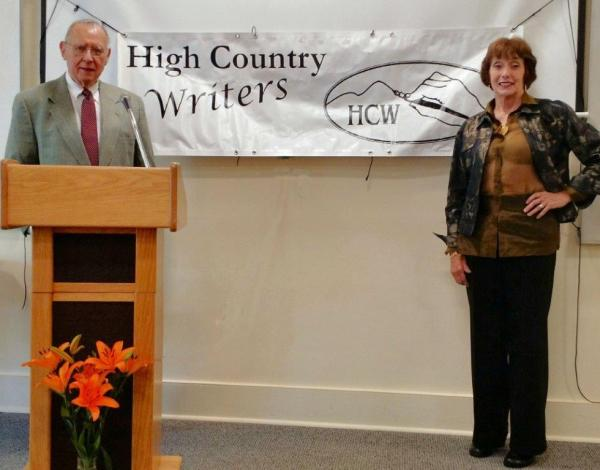 Bart Bare and Anita Laymon are pictured at the recent High Country Writers Book of the Year Awards recognitions. Photo by Ree Strawsman.