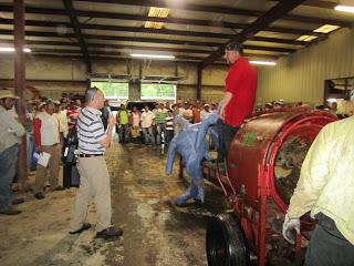 Watauga County Cooperative Extension Director Jim Hamilton mans the mic at the