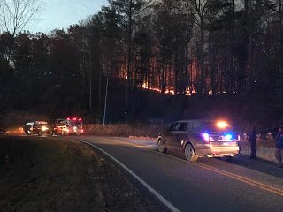 Back burn operations along Sampson Road. 11/22/16