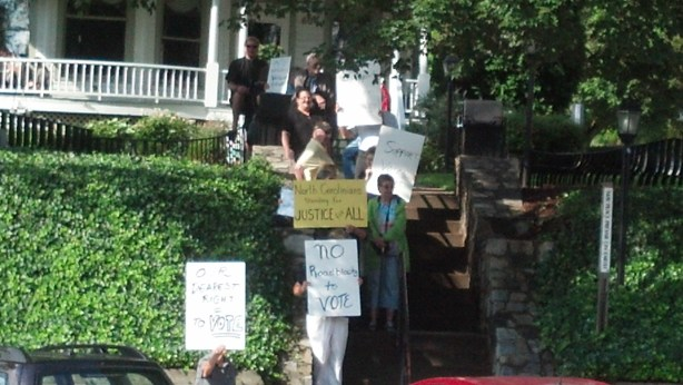 """""""Moral Monday"""" in Boone last week. Photos submitted."""