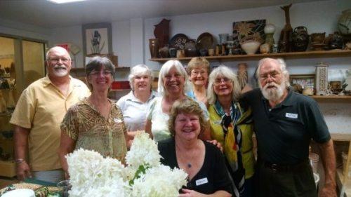From left: Bob Meier, Carol King, Theresa McGrath, Becki Henderson-Gow, Cindy Pacileo, Willie Baucom, Keith Lambert. Front: Nancy Graham.