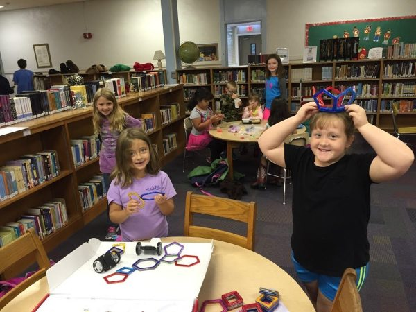 Students enjoy the media center. Submitted by Bethel School.