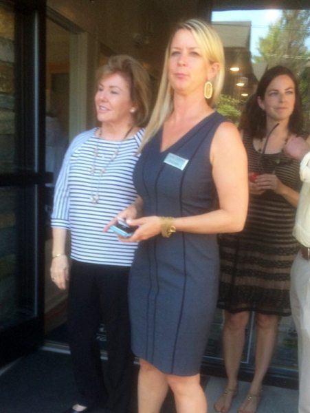 Judy Green, President and CEO, Nicky Lutgert , VP Marketing, Premier Sotheby's International Realty greet guests