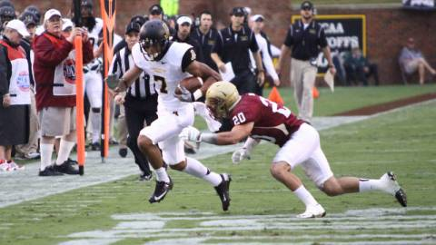 Malachi Jones and the Mountaineers put their 1-0 SoCon record on the line when they face The Citadel on Saturday afternoon in Charleston, S.C. Photo courtesy App State Athletics/Rob Moore