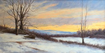 "Kevin Beck, ""Winter Sunrise"" 18x36"