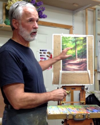 Kevin Beck teaching workshop at Carlton Gallery