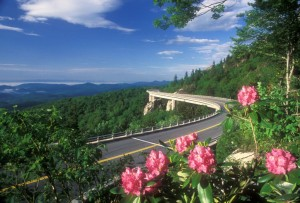 It took 20 years of engineering ingenuity to design a viaduct that would extend the Parkway around Grandfather Mountain without causing significant damage to such fragile terrain. Photo by Hugh Morton