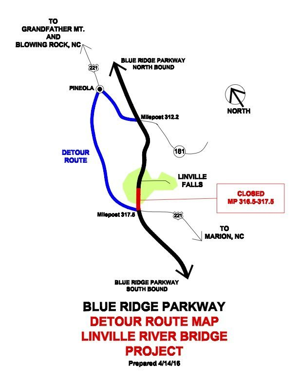 LinvRiv-Bridge-detour-map