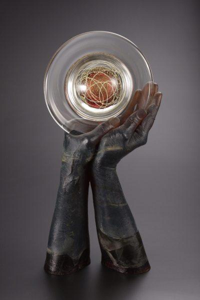 littleton-vogel-cast-and-blown-glass-wisdom-disk
