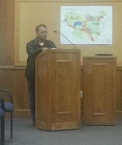 Ashok Patel speaks during public comment at Town Council meeting last Thursday. Photo by Paul T. Choate