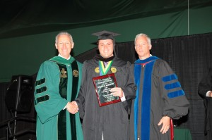 (left to right) President Buxton, Nolan McDaniel, and Dr. Ken Craig