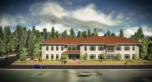 Artist's rendering of the May School of Nursing and Allied Health. Courtesy of Lees-McRae