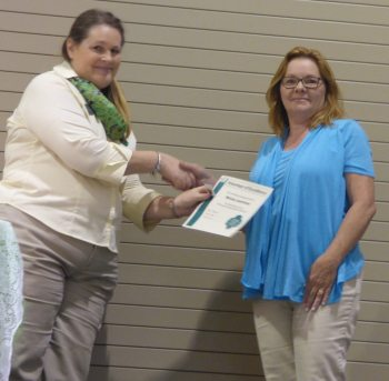 Melinda Latendress recognized as Volunteer of Excellence