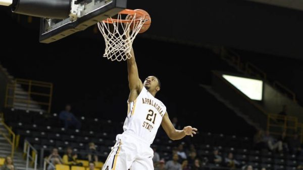Frank Eaves scored 14 points in the Mountaineers' 80-60 exhibition win over Belmont Abbey on Tuesday night. Courtesy: Justin Perry / App State Athletics