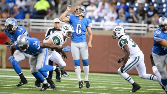 Appalachian State alum Sam Martin is one of 27 players to earn recognition on the PFWA's 2013 NFL all-rookie team. Courtesy: Detroit Lions