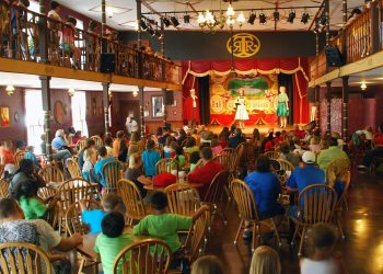 Tweetsie Auditons/Guests enjoy a live show at Tweetsie Railroad's Palace Saloon.