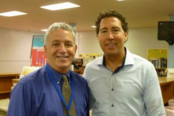 WCS Student Services Director Dr. Paul Holden and Kevin Geagan