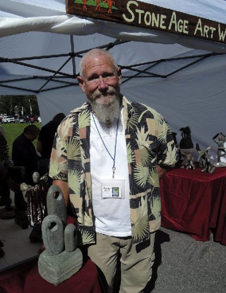 Kenny Bill of Boone represented Stone Age Art Works in Banner Elk at the Art on the Greene event on September 3.