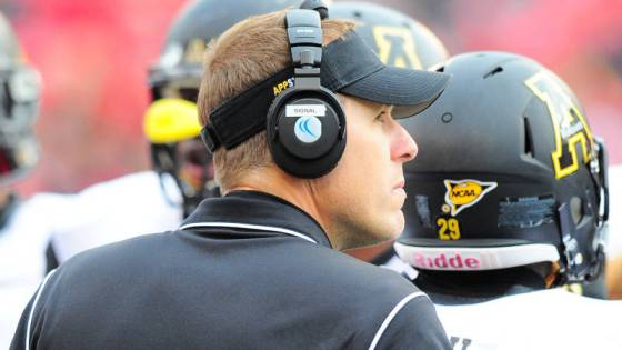 The first six members of Appalachian State head coach Scott Satterfield's first FBS recruiting class will be on campus in January. Courtesy: Keith Cline