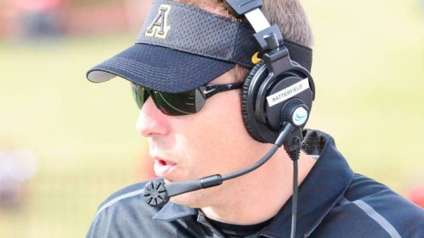 """Athlon Sports tabbed Appalachian State head coach Scott Satterfield as one of college football's """"Top 15 Coaches on the Rise for 2015."""" Photo courtesy App State Sports / Allyson Lamb"""