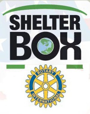 The ShelterBox logo that will be on each repair kit sent to Vanuatu