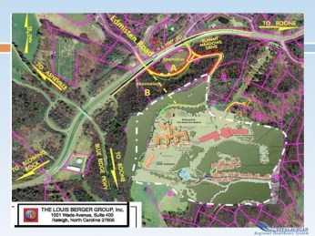 Outline of the plans for the new facility. Click to enlarge.