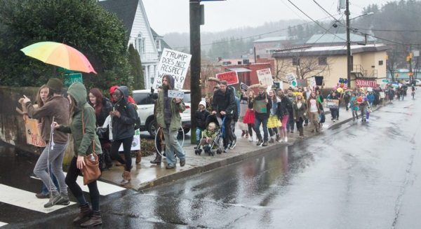 Anti Trump Protest March in Boone, NC