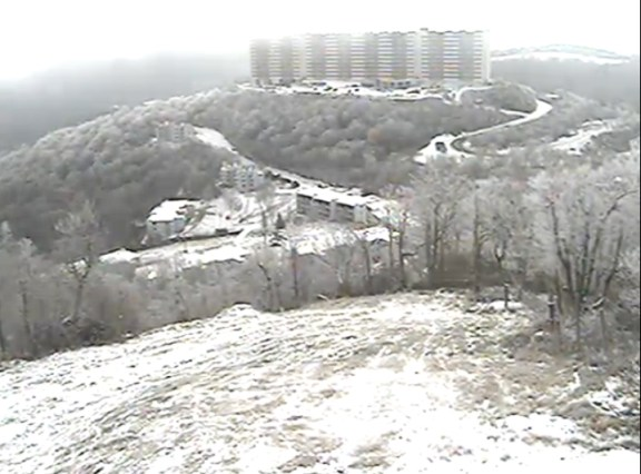 A still from Sugar Mountain Resort's summit cam at about 10:30 a.m. on Friday.