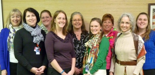 The Watauga County Schools Teachers of the Year for 2014-15 include (from left) Janet Orr, Leslie Howser, Lauren Dotson, Kirbi Bell, Susan Suddreth, Erin Selle, Cynthia Townsend, Mary Kent Whitaker, and Melissa Miller.