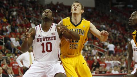 Tommy Spagnolo fell just shy of a double-double in his first collegiate start at NC State on Friday. Courtesy: App State Athletics/Maggie Hobson