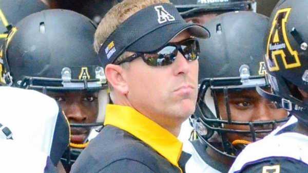 Scott Satterfield tops the Sun Belt and ranks No. 52 nationally in Sporting News' annual rankings of the nation's NCAA Division I FBS coaches. Courtesy Allyson Lamb / App State Athletics