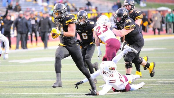 App RB Marcus Cox (4,819 yards) became the school's all-time leading rusher with 153 yards in Saturday's win. Courtesy: David Scearce / App State Athletics