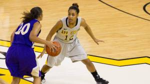 Michelle Taylor and the Mountaineers defeated Western Carolina for the eighth-straight time on Saturday. Photo by Tyler Buckwell and courtesy of Appalachian Sports Information