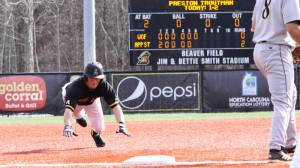 Preston Troutman and the Mountaineers take on Eastern Kentucky on Tuesday afternoon at Turkey Hughes Field in Richmond, Ky. Photo by Rob Moore and courtesy of Appalachian Sports Information