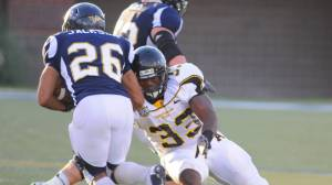 Appalachian State linebacker Jeremy Kimbrough was named first-team all-America by the Walter Camp Football Foundation on Thursday. Photo by Dave Mayo and courtesy of Appalachian Sports Information
