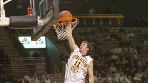 Nathan Healy was named as a second team Academic All-America selection on Thursday. A senior management major with a 3.99 GPA, Healy currently leads the Mountaineers in scoring and rebounding this season. Photo by Dave Mayo | ASU Sports