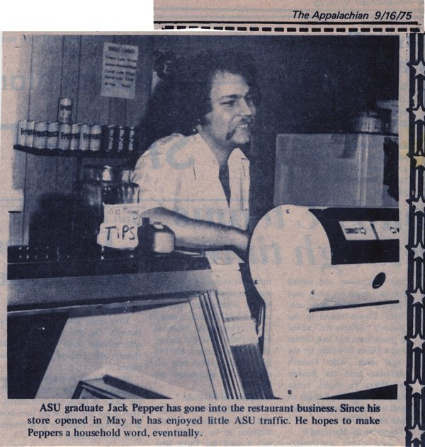 Pepper's Restaurant founder Jack Pepper was featured in this The Appalachian article decades ago.