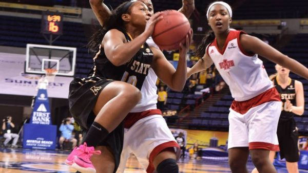 Joi Jones tied her career mark with 28 points in the loss to Arkansas State on Wednesday in the first round of the Sun Belt Tournament.